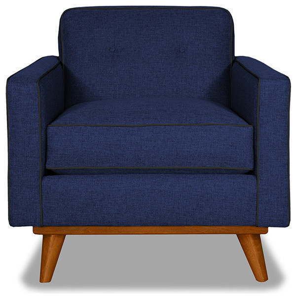 Clinton Chair Navy Coal Contemporary Armchairs And Accent Chairs By Apt2B