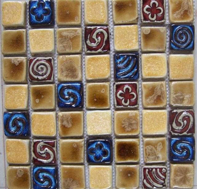 Hand craft porcelain ceramic mosaic wall tile backsplash for Mosaic tile for crafts