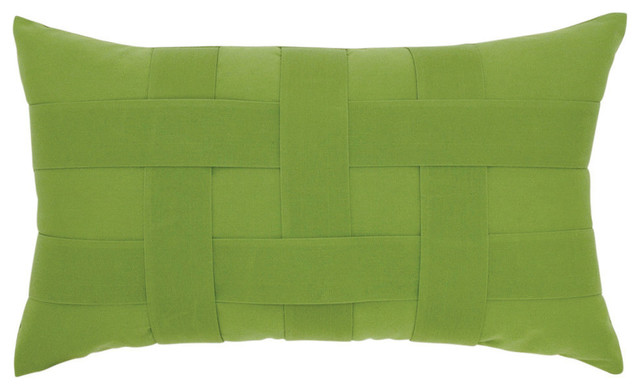 Elaine Smith Basketweave Ginkgo Lumbar Pillow - Modern - Outdoor Cushions And Pillows - by ...