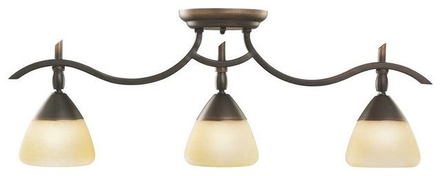 Kichler Olympia 3 Light Track Lighting in Olde Bronze traditional-bathroom-vanity-lighting
