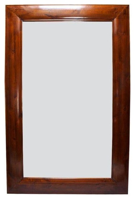 Hd buttercup large wood frame mirror traditional wall for Large wall mirror wood frame