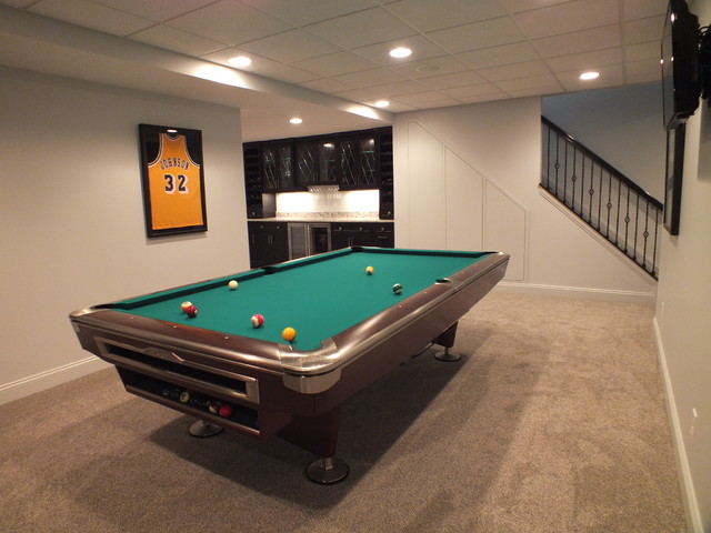 Finished basement 2014 modern cleveland by otero for Accents salon chagrin falls