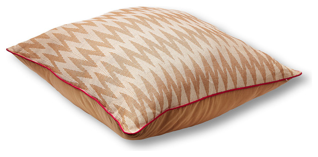 Orange Floor Pillows : Chevron 36x36 Floor Pillow, Orange - Contemporary - Scatter Cushions