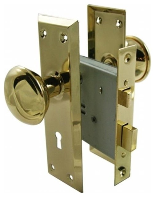 Ultra 2 25in Brass Old Time Mortise Interior Door Lock