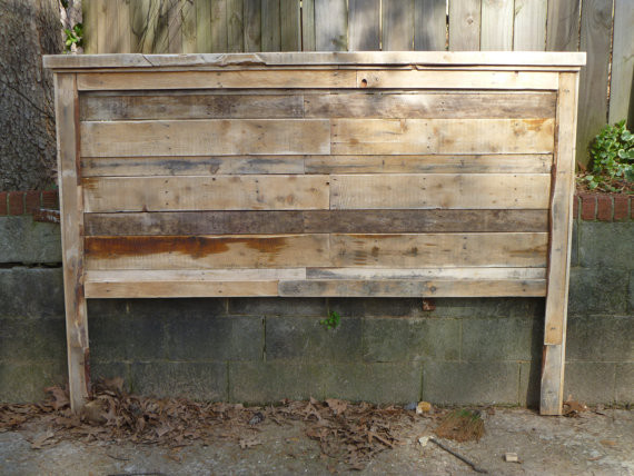 Pallet farmhouse style headboards king size by Traditional wood headboard