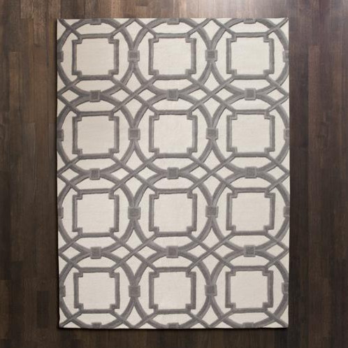 Global Views Grey Ivory Arabesque Rug Modern Rugs By