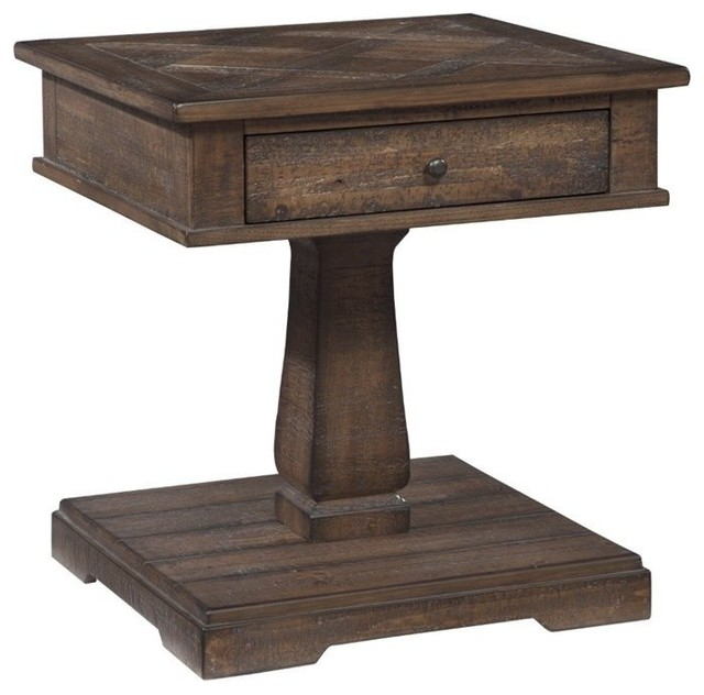 Ashley Zalarah Square End Table Rustic Brown Side Tables And End Tables By Cymax