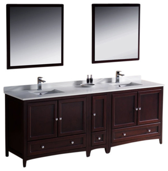 84 Inch Double Sink Bathroom Vanity Mahogany Transitional Bathroom Vanities And Sink
