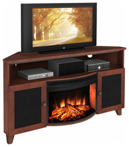tucker corner electric fireplace entertainment center in