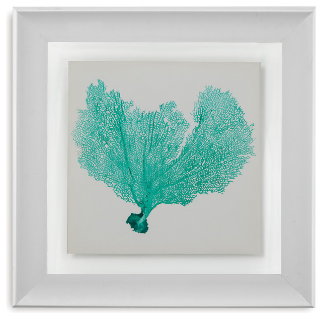 Wall Art Glass Framed : Framed under glass art sea fan vi beach style prints