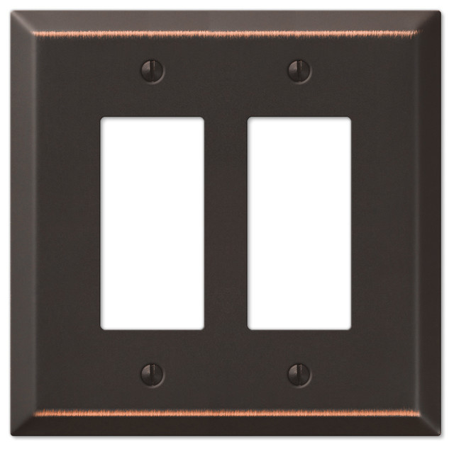 Metal Electrical Outlet Covers Oversized Outlet Covers: Oversized Steel 2-Rocker Wall Plate