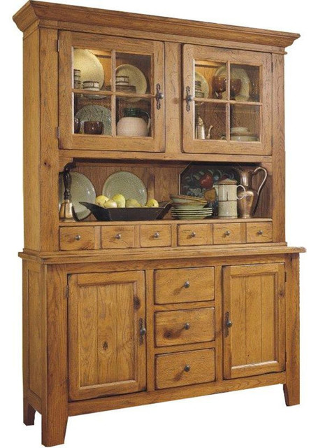 Broyhill Attic Heirlooms China Cabinet, Natural Oak - Traditional - China Cabinets And Hutches ...