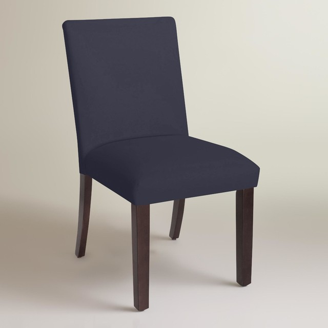 Modern Twill Kerri Upholstered Dining Chair - Modern - Curtains