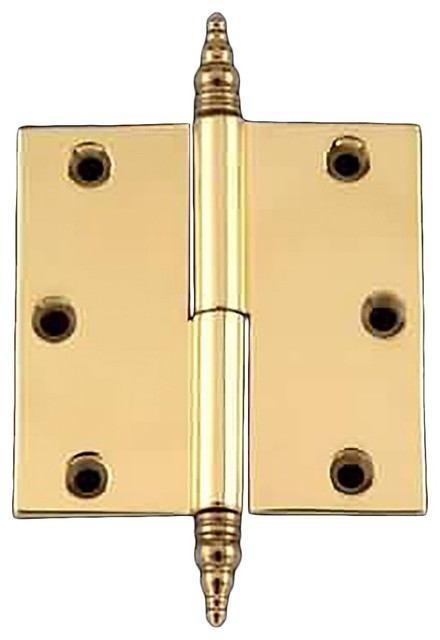 "Door Cabinet Hinge Lift Off Right 3"" Brass Steeple Tip - Traditional - Hinges - by Renovator's ..."