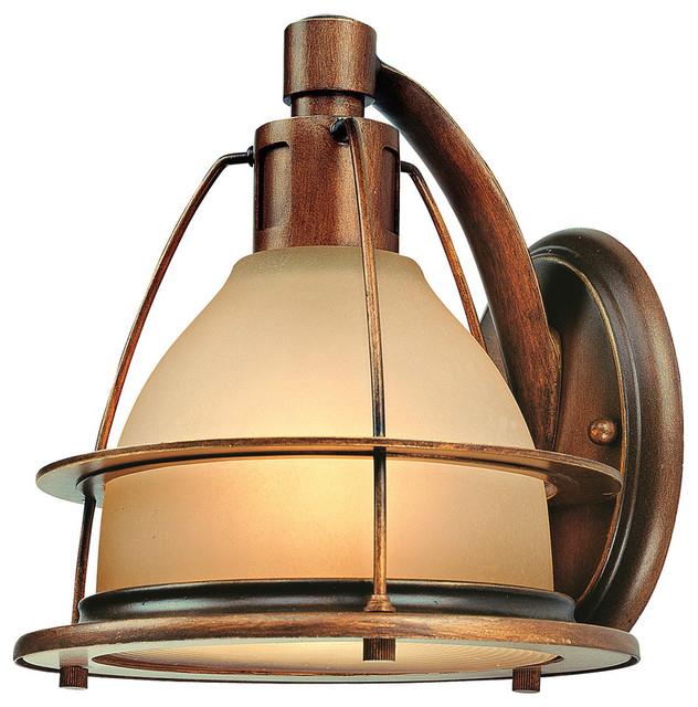 101 Indoor Nautical Style Lighting Ideas: Troy-CSL Lighting B2051SBZ Bristol Bay 1 Light Wall