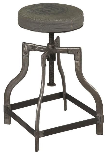 Tabouret industriel sixtine en acier brut contemporary folding chairs am - Chaise acier industriel ...