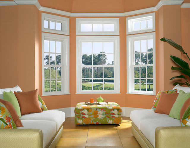 Replacement double hung windows traditional windows for Window treatments for double hung windows