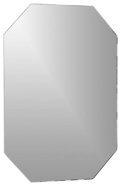 Decor wonderland frameless octagon scallop beveled mirror for Octagon beveled mirror