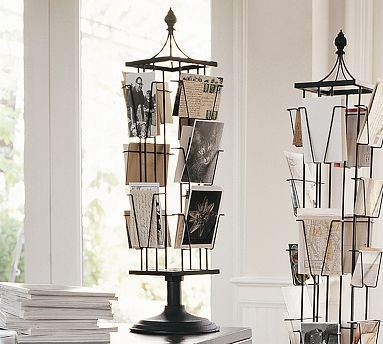 Tabletop Photo Carousel, White - Traditional - Picture Frames - by ...