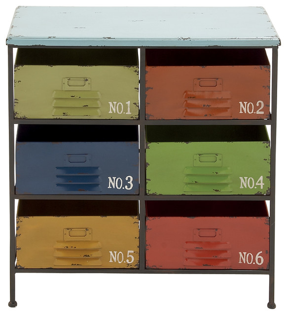 Beautiful Style Colorful Metal Wood Storage Chest Home ...