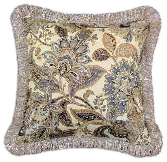 Decorative Throw Pillows With Fringe : Custom Fringed Square Pillow - Traditional - Decorative Pillows