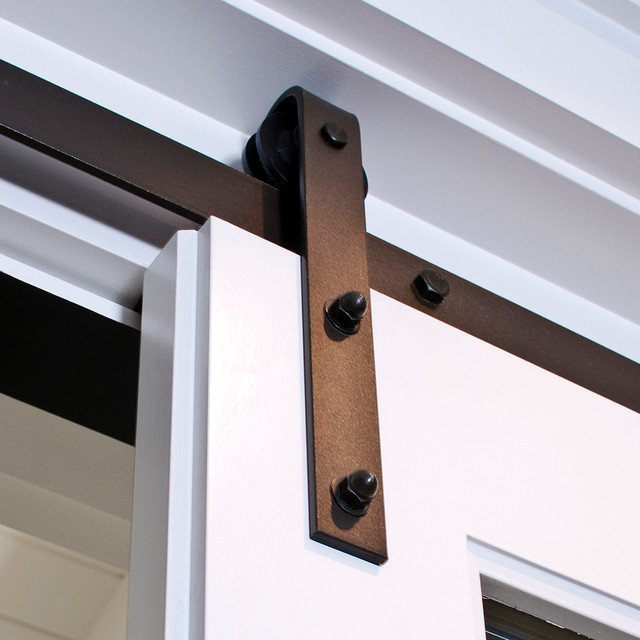 Classic barn door hardware classic sliding barn door for Real carriage hardware