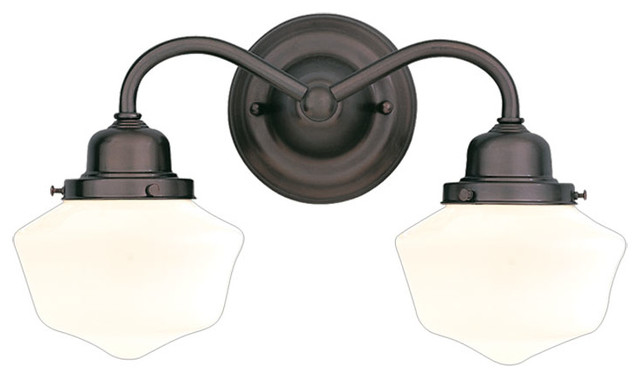 Bathroom Vanity Lights Farmhouse : Hudson Valley Lighting - 4602-OB - Dawson Old Bronze 2 Light Bath Bracket - Farmhouse - Bathroom ...