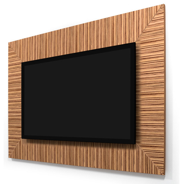 zebrawood 50 55 tv wall panel contemporary home electronics