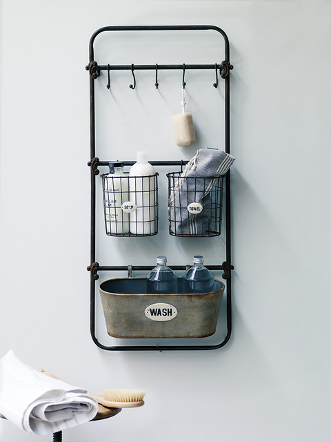 Vintage Style Bath Rack Industrial Bathroom Cabinets Shelves By Cox Cox