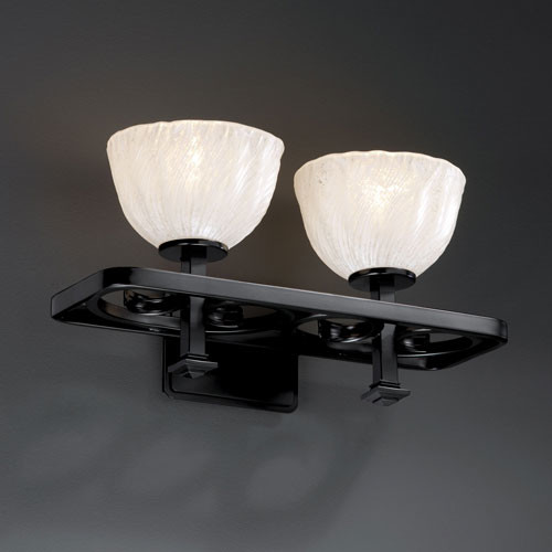 Vanity Light Fixture Black : Veneto Luce Arcadia Two-Light Matte Black Bath Fixture - Contemporary - Bathroom Vanity Lighting ...