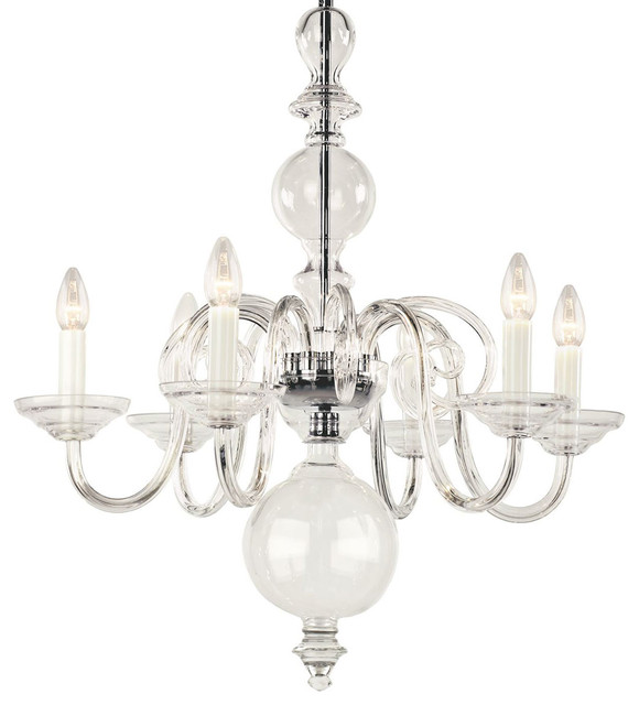 Egmont crystal chandelier traditional chandeliers by inviting home inc - Traditional crystal chandeliers ...