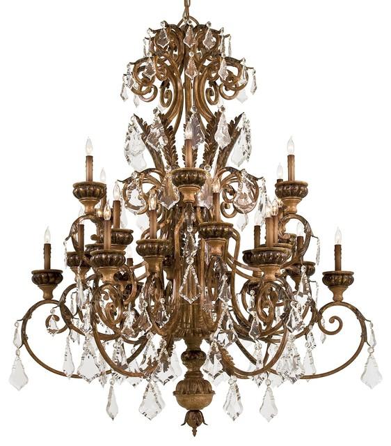 Traditional Foyer Chandeliers : Metropolitan n padova light crystal foyer