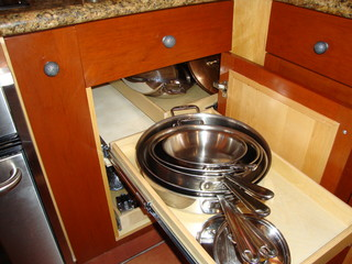 Pull Out Blind Corner Cabinet Solution - Kitchen Drawer Organizers ...