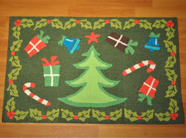 Christmas Tree Rug Contemporary Outdoor Holiday