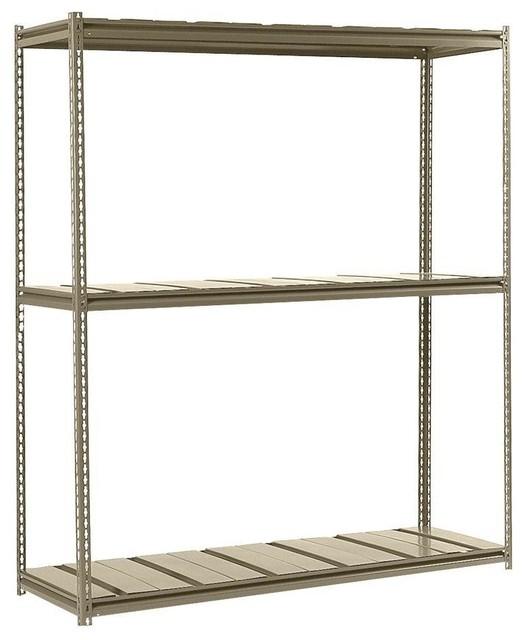 Free Standing Cabinets Racks & Shelves: Edsal Garage Shelving 3-Shelf 72 in. W contemporary ...