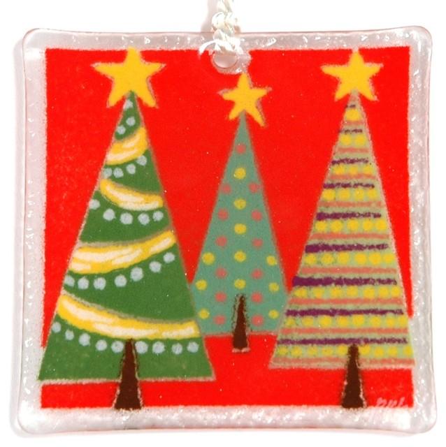 Traditional Glass Christmas Tree Ornaments : Quot festive trees ornament traditional christmas