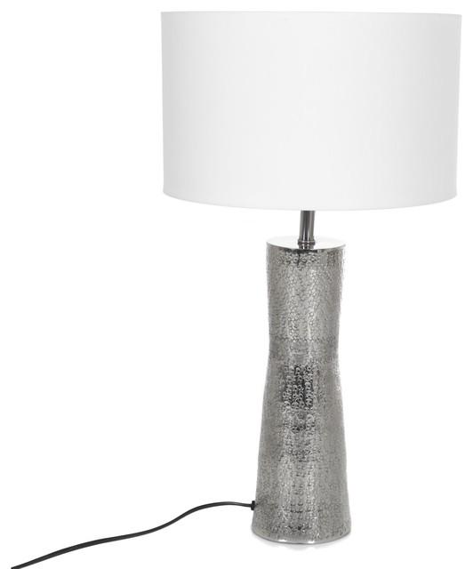 Alicia 2 lum lampe avec large pied en m tal 30cm contemporain lampe pos - Lampe a poser contemporaine ...