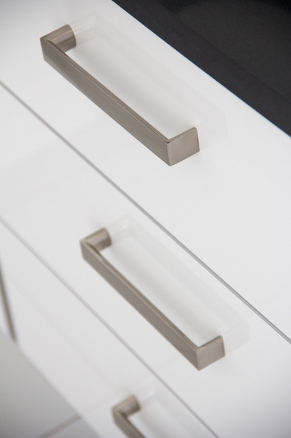 White Acrylic Drawer Fronts - Modern - Cabinet And Drawer Handle Pulls - other metro - by Zonavita