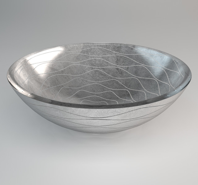 ... Bathroom Sink Contemporary Bowl Design, Silver modern-bathroom-sinks