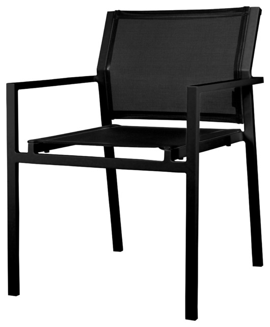 Allux Stacking Chair Contemporary Outdoor Dining Chairs by Marin Outdoo