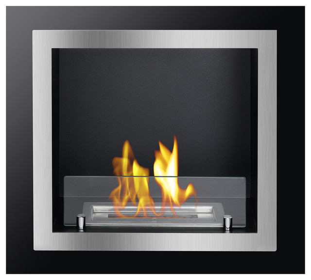 Antalia Recessed Ventless Ethanol Fireplace Modern