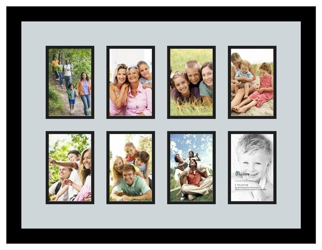 Arttoframes collage photo frame with 8 4x6 openings for Modern collage frame