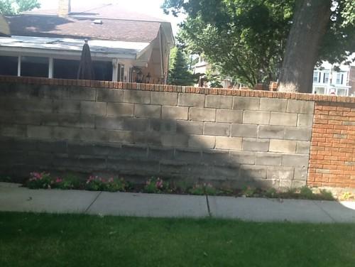 Ugly Cinder Block Wall