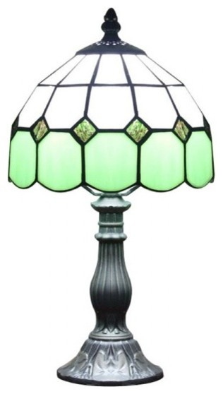 Tiffany Style Glass Bedside Table Lamp Green