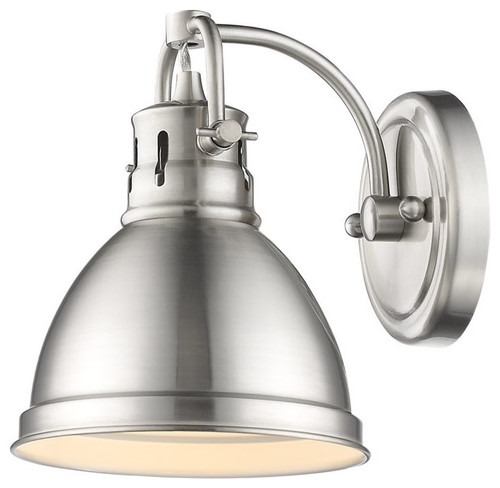 Duncan 1 Light Vanity Fixture Pewter