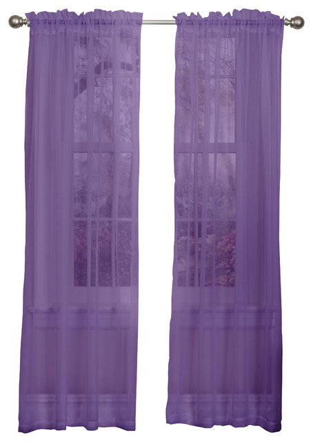 lisa sheer curtain panel 2 pack purple modern