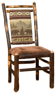 Rustic Hickory Dining Chairs Set Of 2 Rustic Dining