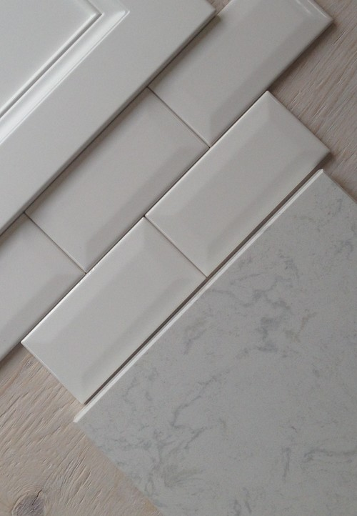 beveled or flat subway tile