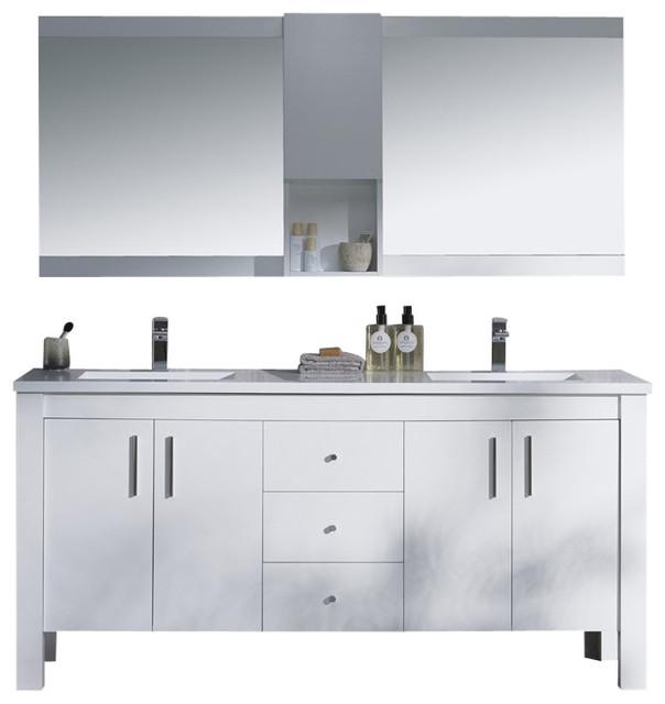 Double Bathroom Vanity Tops Solid Surface : Vanity parsons quot double solid surface top contemporary