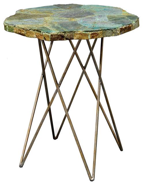 Palecek malachite side table modern side tables end for Palecek coffee table